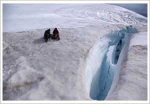 Ледник, снежный мост